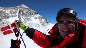 Bo på toppen af Changtse 7586 meter
