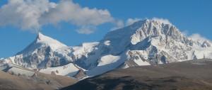 Shishapangma set fra det tibetanske højland