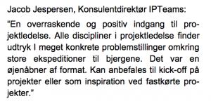 Kundeudtalelse af daværende konsulentdirektør Jacob Jespersen, IPTeams