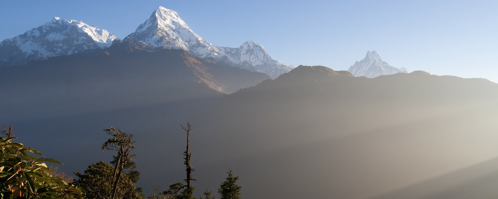 Annapurna bjerggruppen set fra Poon Hill