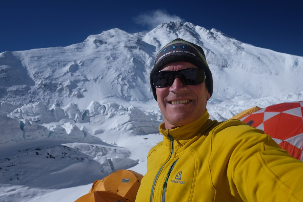 Bo foran Everest i Advanced Basecamp