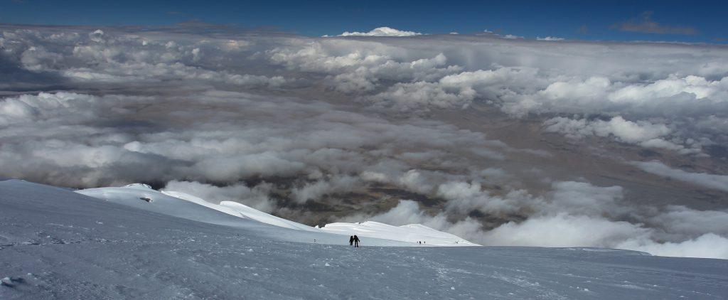 På vej op ad Mustagh Ata i omkring 6400 meters højde